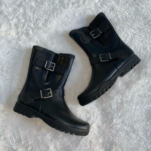 Black Sperry Short Rain Boots
